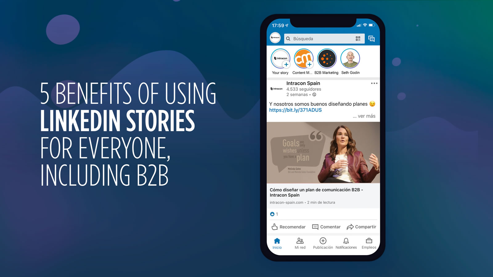 5 benefits linkedin stories