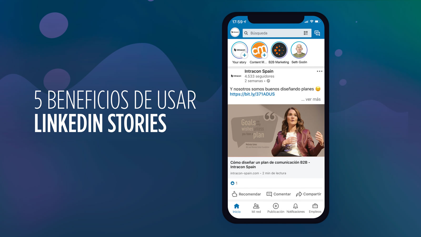 5 beneficios linkedin stories b2b